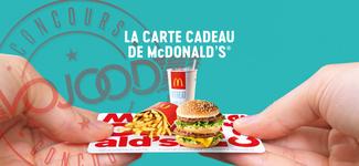 GAGNE ta carte cadeau McDonald's d'une valeur de CHF 100.-