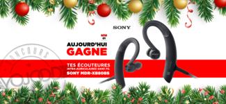 01 DEC • GAGNE tes écouteurs Sony MDR-XB80BS • Calendrier Avent 2018