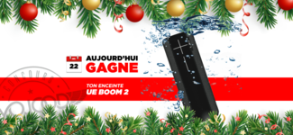 22 DEC • GAGNE ton enceinte Ultimate Ears Boom 2 • Calendrier Avent 2018