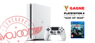 "GAGNE ta PlayStation 4 Slim 500GB + le jeu ""God of War"""