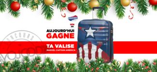 09 DEC • GAGNE ta valise American Tourister Captain America • Calendrier Avent 2018