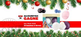 """10 DEC • GAGNE 14 Baumes à lèvres eos inclus des """"Editions limitées"""" • Calendrier Avent 2018"""