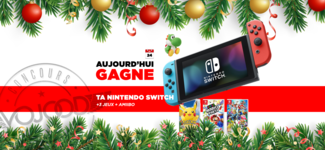 24 DEC • GAGNE ta Nintendo Switch + 3 Jeux + amiibo Woolly Yoshi • Calendrier Avent 2018