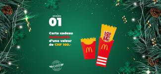 #01 • GAGNE ta carte McDonald's d'une valeur de CHF 100.- • Calendrier de l'Avent 2019