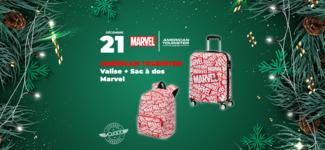 #21 • GAGNE ton pack Valise + Sac à dos American Tourister Disney Marvel • Calendrier de l'Avent 2019