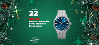 #22 • GAGNE ta montre connectée Kronaby Sekel Stainless Steel 41mm • Calendrier de l'Avent 2019