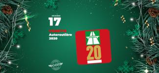 #17 • GAGNE ta vignette autoroutière 2020 • Calendrier de l'Avent 2019