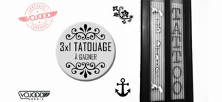 3x1 tatouage à gagner chez Le Divan