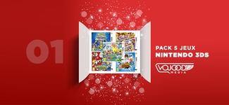 #01 Avent17 ● Pack 5 Jeux Nintendo 3DS