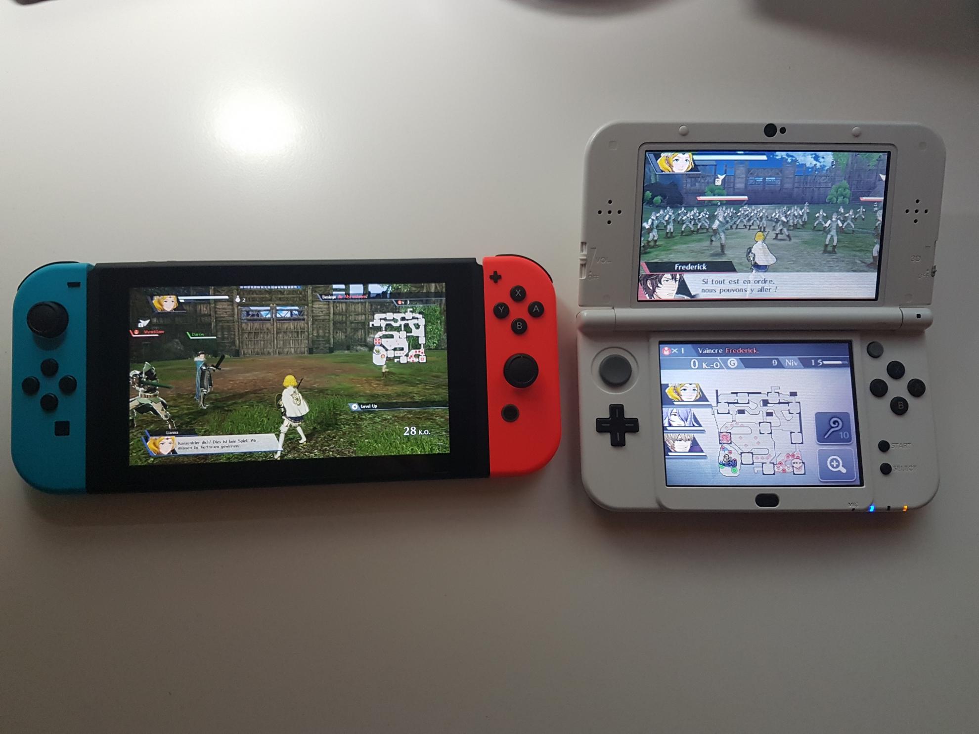 Comparaison Fire Emblem Warriors Switch 3DS