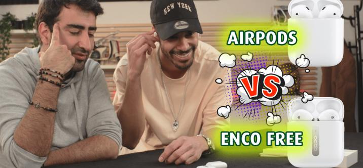 Comparaison des AirPods d'Apple avec les écouteurs OPPO Enco Free