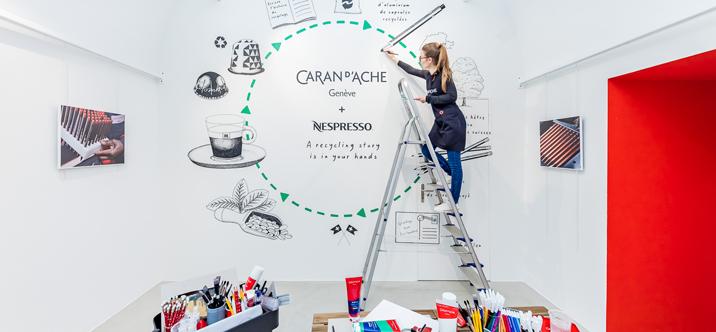 Caran d'Ache et Nespresso écrivent l'histoire du recyclage ensemble