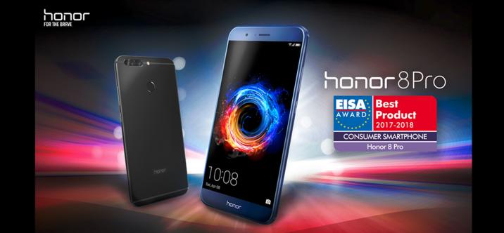 Le Honor 8 Pro élu Consumer Smartphone 2017-2018