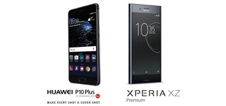Comparatif Sony Xperia XZ Premium et Huawei P10 Plus