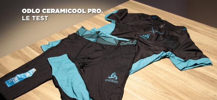 Collant et Tshirt de course ODLO Ceramicool Pro