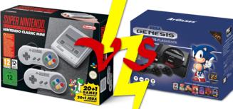Super Nes Mini VS Sega Mégadrive Flashback HD