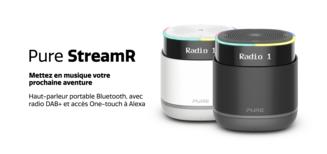 StreamR et StreamR Splash, des enceintes portables sans-fil avec radio DAB+ intégrée, conçues pour durer