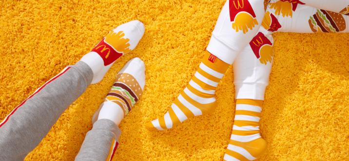 Des chaussettes McDonald's offertes avec chaque commande McDelivery