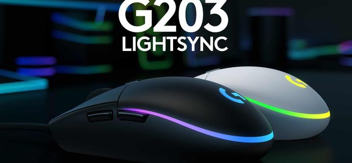 Nouvelle souris Gaming Logitech G203 LIGHTSYNC offre des performances de jeu élevées