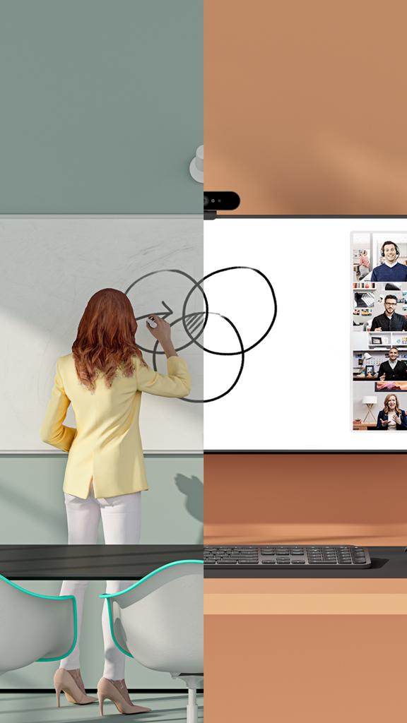 Logitech présente une solution collaborative pour tableau blanc